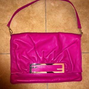 Vintage Fendi Nappa Shoulder bag - Fuchsia